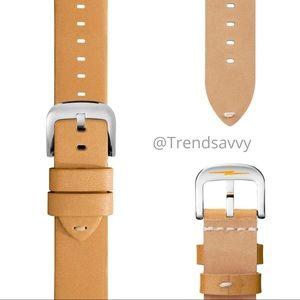NWT Shinola Interchangeable Leather Watch Strap 18